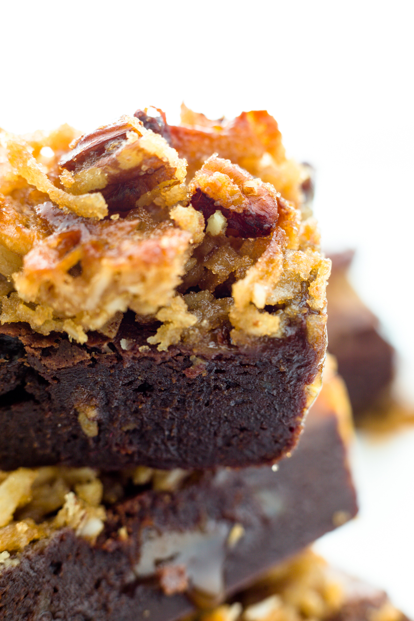 Gluten Free Toasted Pecan and Coconut Caramel Brownies – Luv Cooks ...