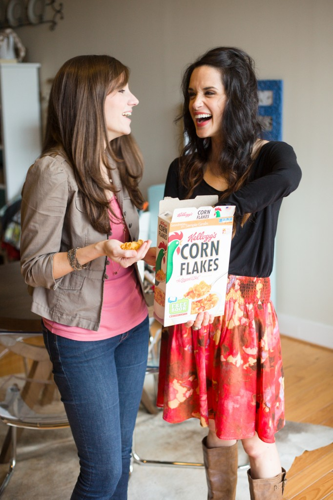 Need a snack while you bake? Bust out a box of cornflakes. Seriously, so good!