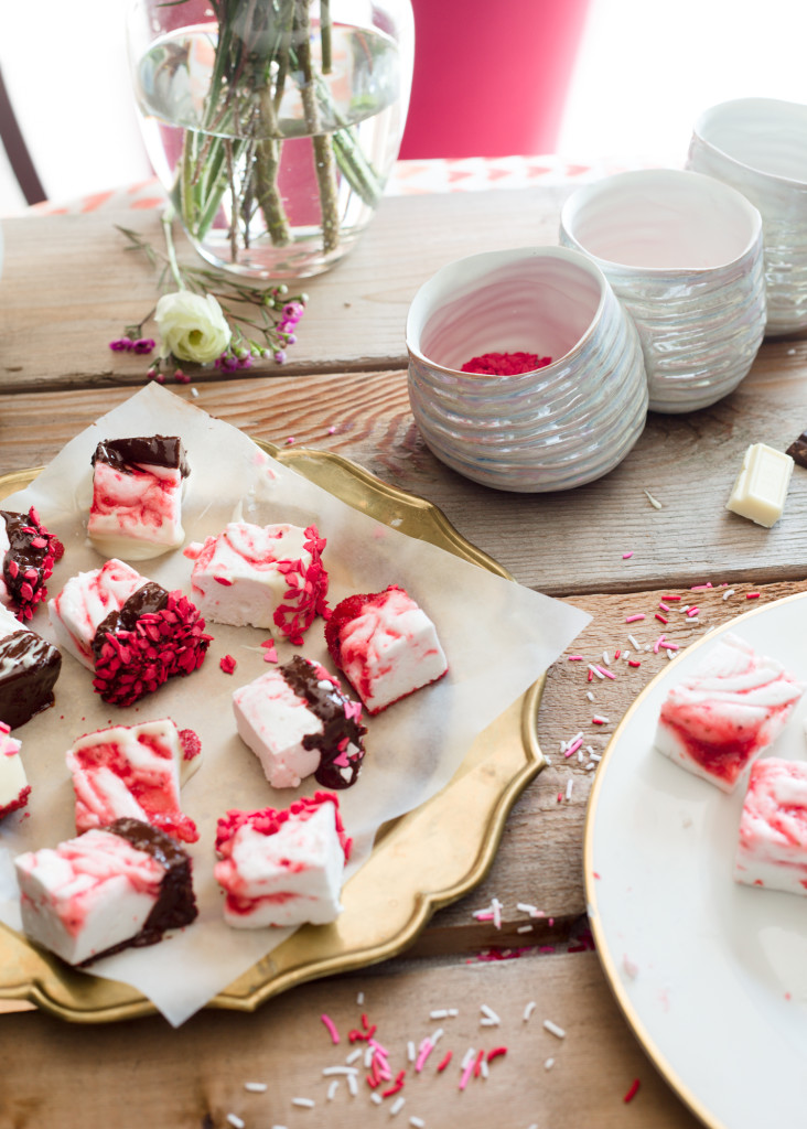 Strawberry Swirl Marshmallows