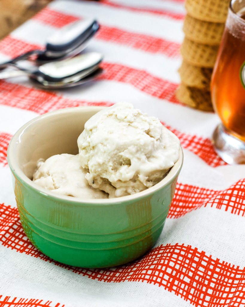 Coffee and Honey Coconut Ice Cream