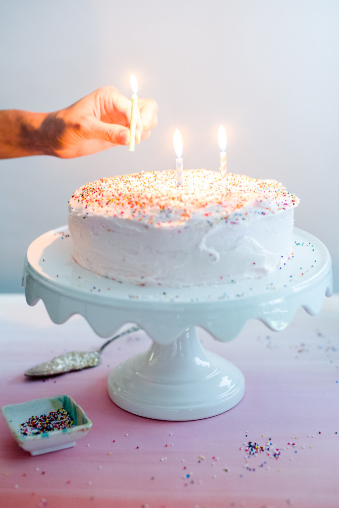 Pink Sprinkle Birthday Cake Candle Three!