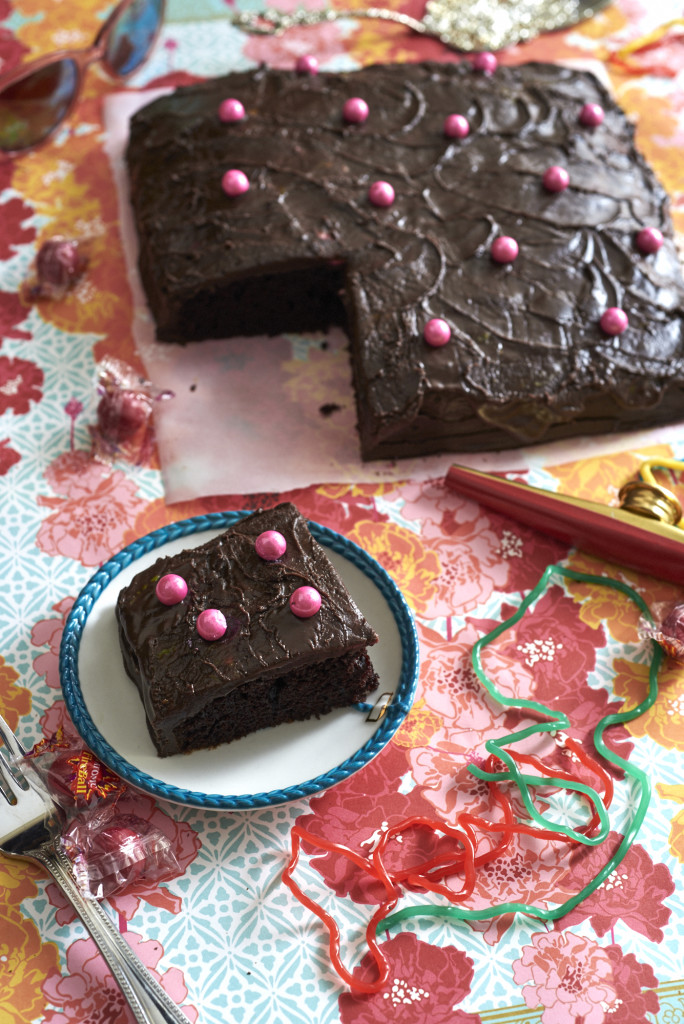 Wacky Cake with Cocoa Fudge Frosting