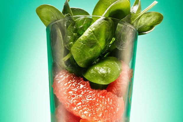 Spinach-Avocado Smoothie with Grapefruit by Epicurious!