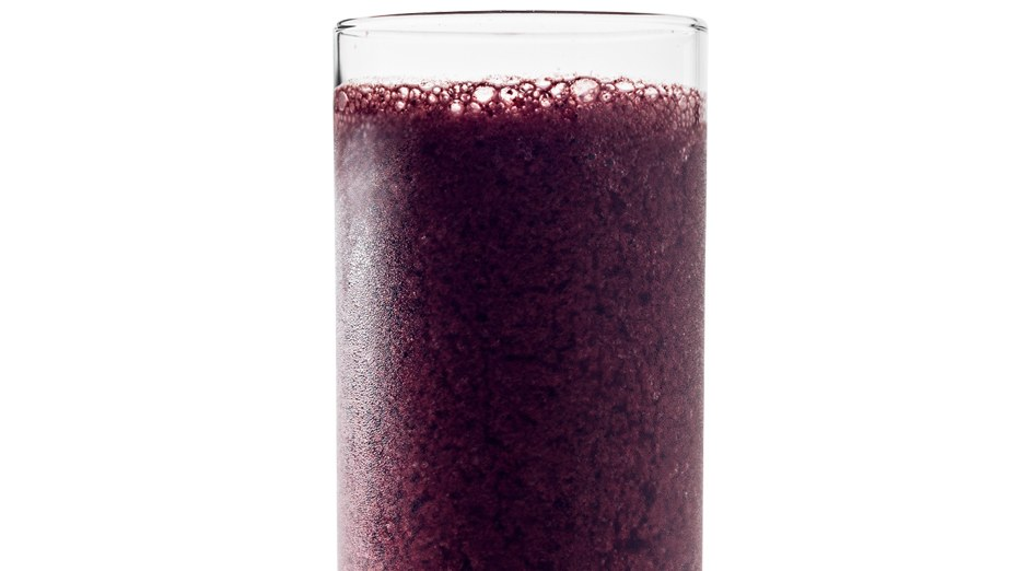 Coconut-Blueberry smoothie from Bon Appetit!