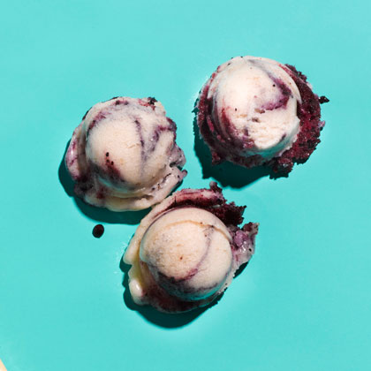 Blueberry and Banana Ice cream from Health- made with almond milk!